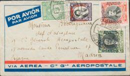 Chile, Aéreo. Sobre Yv 16, 18, 19. 1929. 40 Ctvos Violeta, 1 Peso Verde, 2 Pesos Rojo Y 5 Ctvos Verde. Correo Aéreo De S - Chile