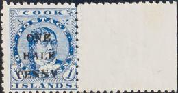 Cook. MNH **Yv 15. 1899. 1 ½ P Sobre 1 P Azul. MAGNIFICO. Yvert 2013: 60 Euros. - Islas Cook