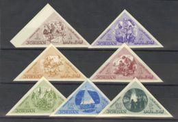 Jordania. MNH **Yv 453/59. 1964. Serie Completa. SIN DENTAR. MAGNIFICA. Yvert 2008: 65 Euros. - Jordania