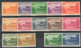 Norfolk. MH *Yv 1/12, 23/24. 1947. Serie Completa, Catorce Valores. MAGNIFICA. (SG1/12a 35£) Yvert 2008: 82 Euros. - Isla Norfolk