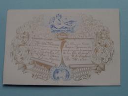 Mr. Désiré MAES & Melle Sophie DE BLAUWE > Lith. Hemelsoet Gand ( Porcelein / Porcelaine ) Formaat +/- 12,5 X 8,5 Cm - Boda
