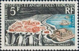 Tierras Australes-TAAF. MNH **Yv 20. 1963. 5 F Multicolor. MAGNIFICO. Yvert 2014: 92 Euros. - Tierras Australes Y Antárticas Francesas (TAAF)