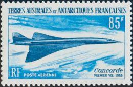 Tierras Australes-TAAF, Aéreo. MNH **Yv 19. 1969. 85 F Azul Y Azul Oscuro. MAGNIFICO. Yvert 2014: 87 Euros. - Tierras Australes Y Antárticas Francesas (TAAF)