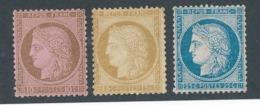 DD-205: FRANCE: Lot Avec N° 54-55-60A Tous*GNO - 1871-1875 Cérès