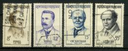 FRANCE   Grands Médecins    N° Y&T  1142 à 1145  (o) - France