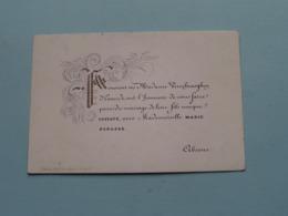 Gustave VERSCHRAEGHEN D'EXAERDE & Marie BEKAERT > Lith. Gyselynck ( Porcelein / Porcelaine ) Formaat +/- 10 X 7 Cm - Boda