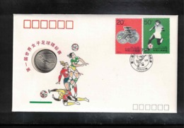 "China 1991 FIFA World Championship For Women's Football Interesting ""Numisbrief"" - Fussball"