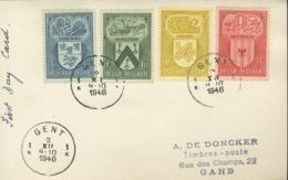PREMIER JOUR DE CIRCULATION. Proto FDC 2 DEC 1946. Armoiries De Ville.    Rarement Vu   ! - ....-1951