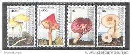 Nevis (1991) Yv. 610/13  /  Setas - Pilze - Mushrooms - Champignons - Fungi - Hongos
