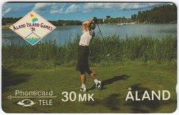 ALAND A-016 Magnetic Tele - Event, Sport, Island Games, Golf - 4FINA - Used - Aland