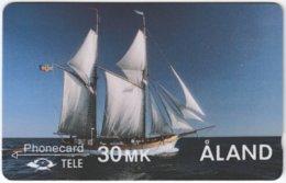 ALAND A-017 Magnetic Tele - Traffic, Sail Ship - 2FINC - Used - Aland