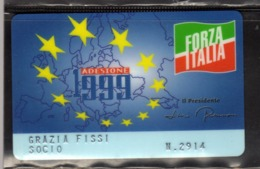 1999 TESSERA FORZA ITALIA CARD SOCIO - Altri