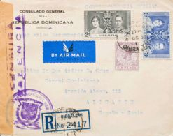 Gibraltar. Sobre Yv 100, 101, 79. 1937. 2 P Negro, 3 P Azul Y 6 P Violeta. Certificado De GIBRALTAR A ALICANTE. Circulad - Gibilterra