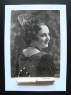 Autografo Liana Grani Soprano 1939 Barbiere Di Siviglia Teatro Lirica - Autographes