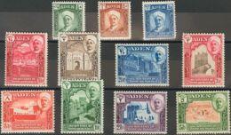 Adén-Q\'aiti. MH *Yv 1/11. 1942. Serie Completa. MAGNIFICA. (SG1/11 65£) Yvert 2015: 65 Euros. - Aden (1854-1963)