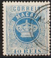 Macao. ºYv 5B. 1884. 40 Reis Azul. DENTADO 13 ½. MAGNIFICO. - Sin Clasificación