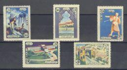 Irán. MNH **Yv 856/60. 1956. Serie Completa. MAGNIFICA. Yvert 2008: 75 Euros. - Irán