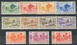 Nuevas Hébridas. MNH **Yv 155/65. 1953. Serie Completa. MAGNIFICA. Yvert 2013: 73 Euros. - Nueva Hebrides