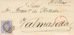 España. Gobierno Provisional. Gobierno Provisional. Matasello PARRILLA. MAGNIFICA Y MUY RARO USO TAN TARDIO. - 1868-70 Gobierno Provisional