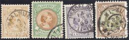 Holanda. ºYv 43/46. 1891. 50 C Castaño Claro, 50 C Marrón Y Verde, 1 G Violeta Y 1 G Marrón Y Verde. MAGNIFICOS. Yvert 2 - Holanda