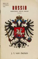 Rusia, Bibliografía. 1962. Catálogo De Subasta De RUSSIA: TERRITORIES, OFFICES ABROAD U.S.S.R., Celebrada Entre El 5 Y E - Unclassified