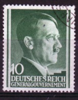 Poland German Occupation 10g Stamp Showing Adolf Hitler From 1941. - General Government