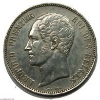 BELGIQUE - LEOPOLD I Er 5 Francs 1865 M Cassé SUP - Belgio