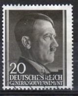Poland German Occupation 20g Stamp Showing Adolf Hitler From 1941. - General Government