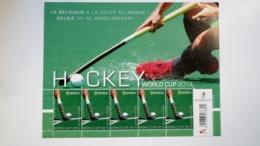 F4421 ** Neuf – 2014 – Hockey World Cup 2014 – Le Hockey Belge à La Coupe Du Monde à La Haye Feuillet De 5 Timbres - Feuilles Complètes