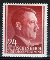 Poland German Occupation 24g Stamp Showing Adolf Hitler From 1941. - General Government