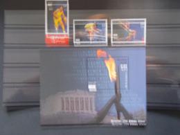 BELGIQUE - BLOCS FEUILLETS N° 114 + Timbres N° 3303/05   JO ATHENES       Année 2004 Neuf XX Voir Photo - Blokken 1962-....