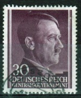 Poland German Occupation 30g Stamp Showing Adolf Hitler From 1941. - General Government
