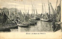 CPA - Belgique - Oostende - Ostende - Le Bassin Des Pêcheurs - Oostende