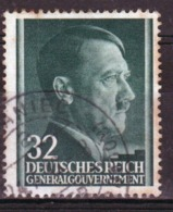 Poland German Occupation 32g Stamp Showing Adolf Hitler From 1941. - General Government