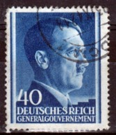 Poland German Occupation 40g Stamp Showing Adolf Hitler From 1941. - General Government