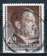 Poland German Occupation 48g Stamp Showing Adolf Hitler From 1941. - General Government