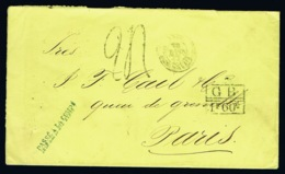 Spanish Puerto Rico Cover 1872 -> London ->Paris GB 1F 60 C   GBPO Stamp Was Not Used In This Period See Text 3th Image - Porto Rico