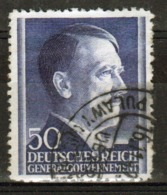 Poland German Occupation 50g Stamp Showing Adolf Hitler From 1941. - General Government