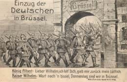 Belgique - Guerre 14-18 - Bruxelles - Einzug Der Deutschen In Brüssel - Ohne Zuordnung