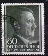 Poland German Occupation 60g Stamp Showing Adolf Hitler From 1941. - General Government