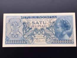 INDONESIA P74 1 RUPIAH 1956 UNC - Indonesia