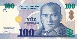 """TURKEY 100 LIRA 2005 PREFIX """"A"""" UNC P-221 """"free Shipping Via Registered Air Mail"""" - Turkije"""
