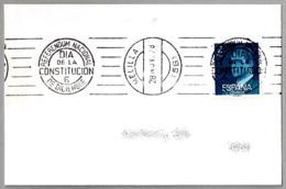 Rodillo REFERENDUM NACIONAL - DIA DE LA CONSTITUCION - 6 DE DICIEMBRE. Melilla 1978 - 1931-Hoy: 2ª República - ... Juan Carlos I