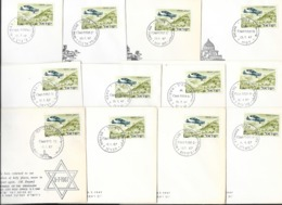 34 COVER OPENING DAY OF ISRAELY POST OFFICE 1967 - Israele
