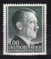 Poland German Occupation 1z Stamp Showing Adolf Hitler From 1941. - General Government