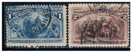 1892 Usa Colon 2v. - Usati