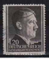 Poland German Occupation 1z 20g Stamp Showing Adolf Hitler From 1941. - General Government