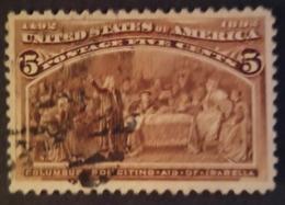 1892 Usa Colon 1v. 5c. - Usati
