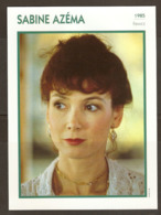 PORTRAIT DE STAR 1985 FRANCE - ACTRICE SABINE AZÉMA - ACTRESS CINEMA FILM PHOTO - Fotos