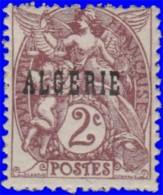 Algérie 1924. ~ YT 3* - 2 C. Type Blanc - Ungebraucht